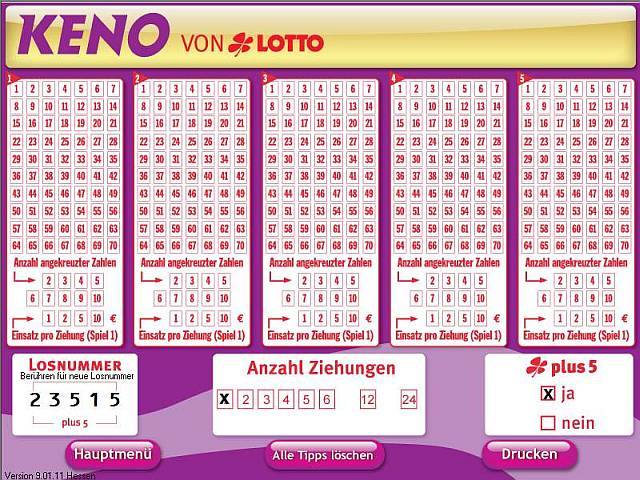 keno lotto ziehung