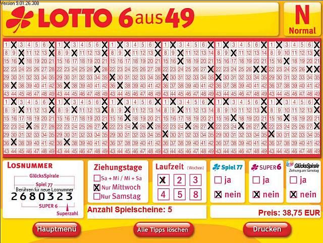 Kosten Lottoschein