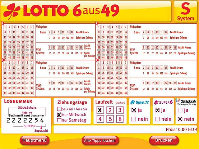 System Lotto Quoten